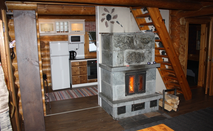 cottage with fireplace